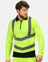 Pro Hi Vis Long Sleeve Polo Shirt